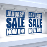 2 x JANUARY SALE NOW ON! Retail Window Decals