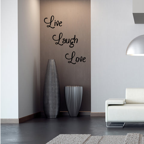 Live Laugh Love - Wall Quote Sticker
