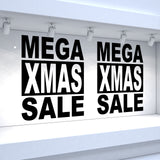 2 x MEGA XMAS SALE - Retail Window Decals