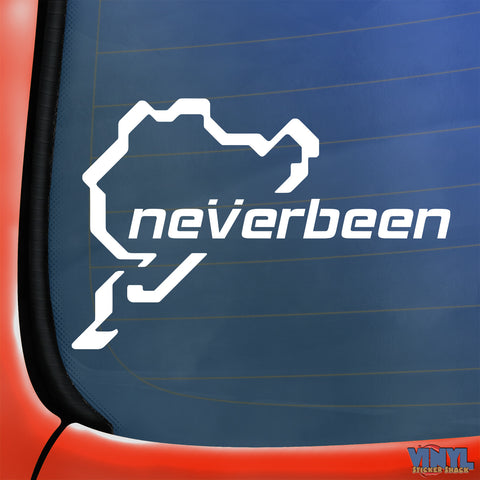 Neverbeen Nurburgring - Car Sticker