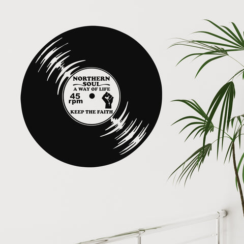 Northern Soul 45rpm Vinyl Record - Wall Sticker