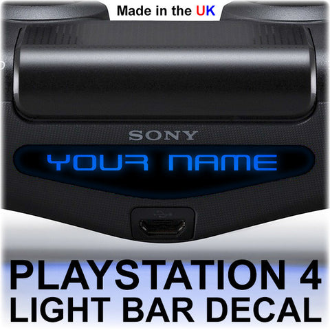 2 x PS4 Personalised Lightbar Stickers