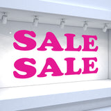 2 x SALE Window Decals - Rounded Style