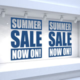 2 x SUMMER SALE NOW ON! Retail Window Decals