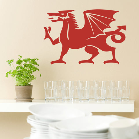 Welsh Cymru Dragon Wall Art Sticker