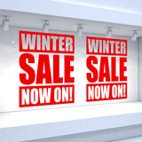 2 x WINTER SALE NOW ON! Retail Window Decals