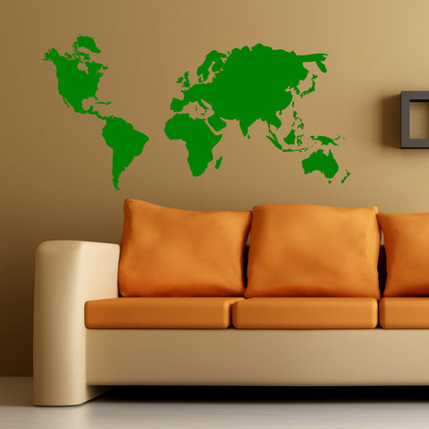 World Map Wall Art Sticker