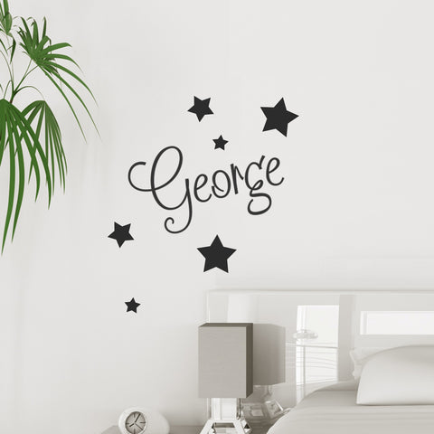 Personalised Name Sticker with Stars