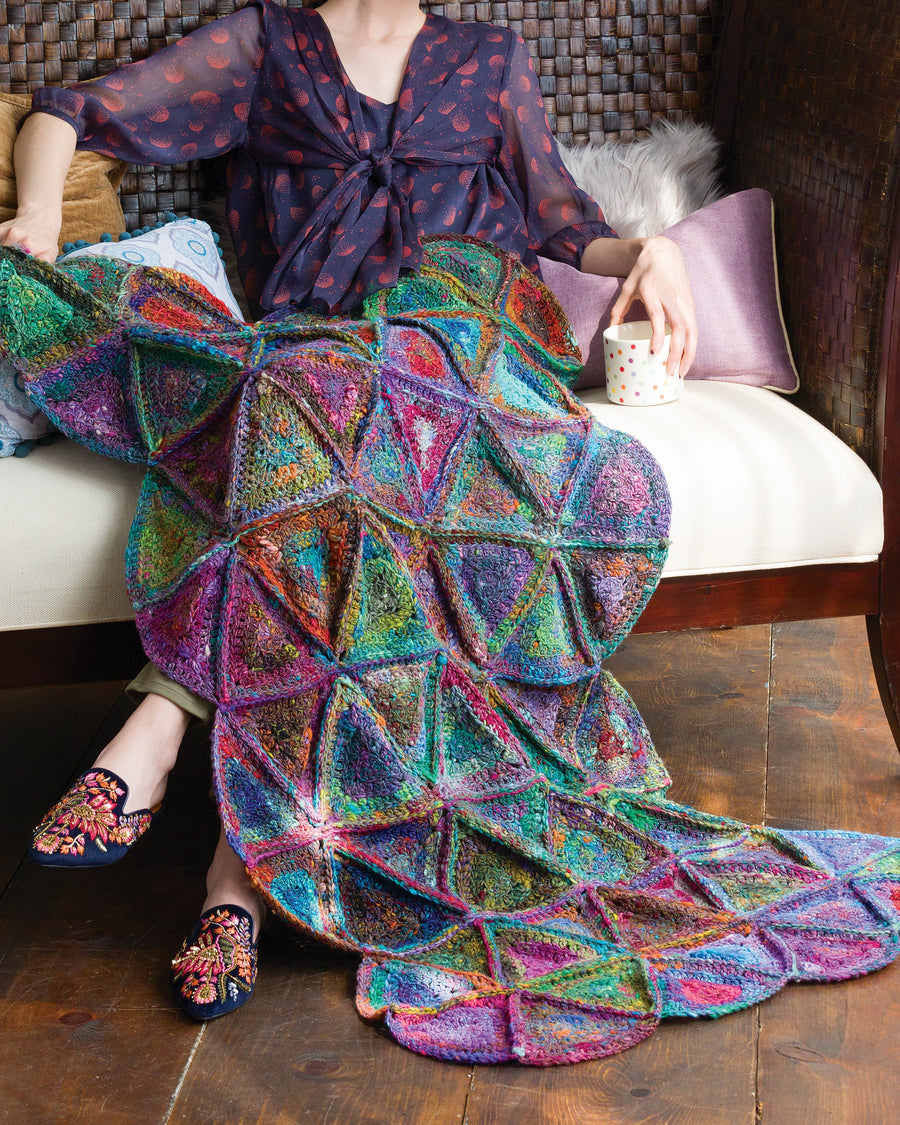 From Noro Magazine Issue 13 - Granny Quilt Afghan