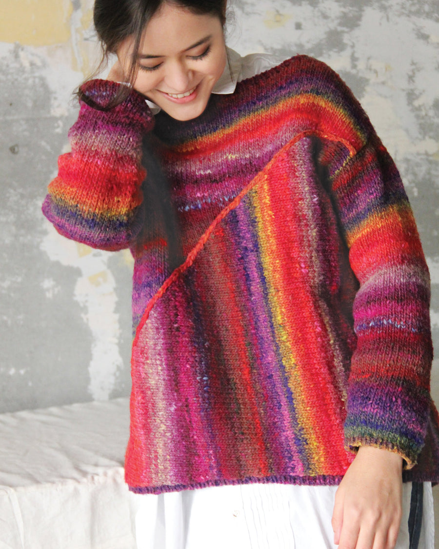 From Noro Magazine #15- Asymmetrical Pullover