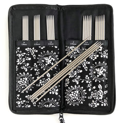 "Double Point Needles Sock Set 6"" (15 cm)- Stainless Steel - ChiaoGoo Open"