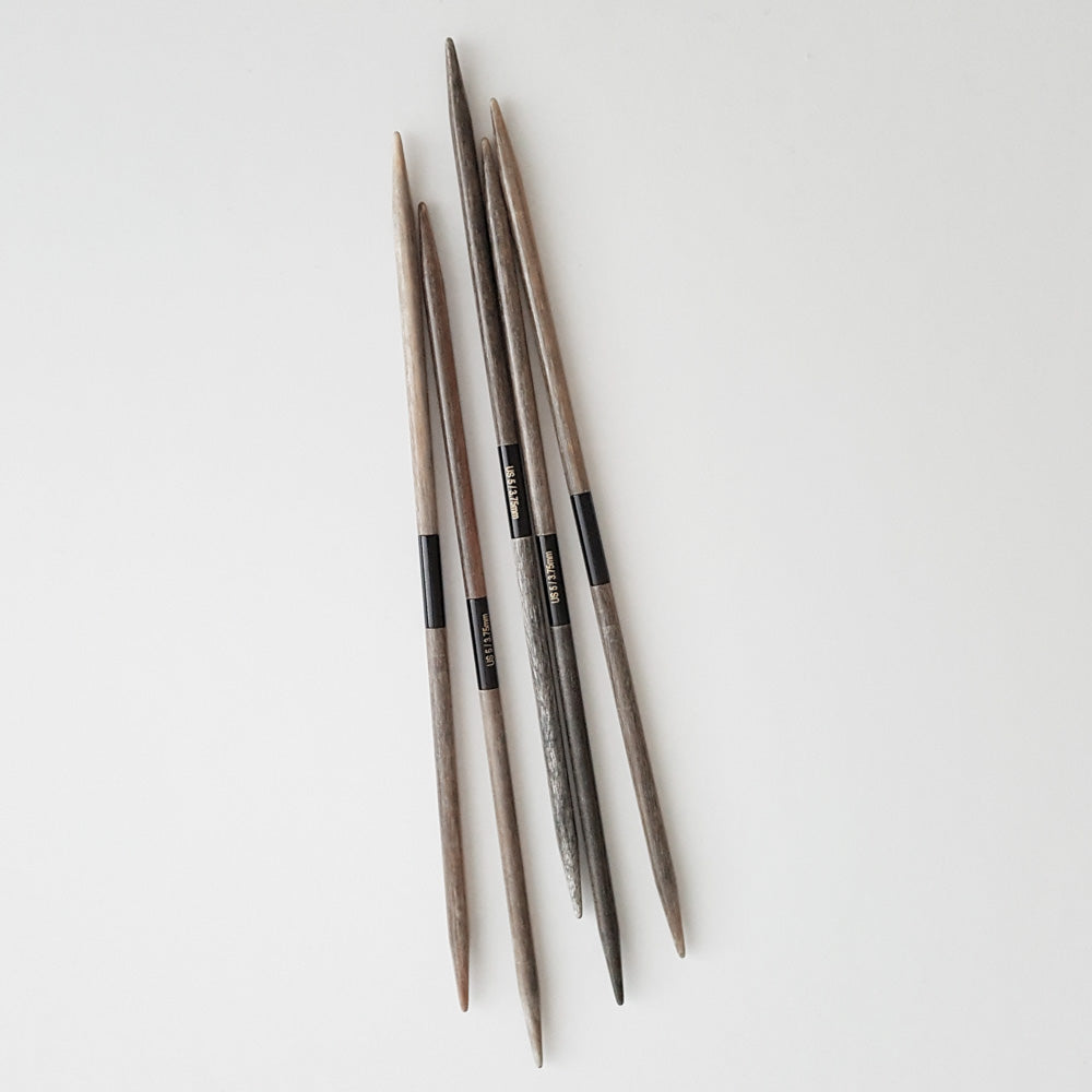 """6 US 15 cm 4.00 mm 6/"""" Lykke :Driftwood Double Pointed Needles:"""