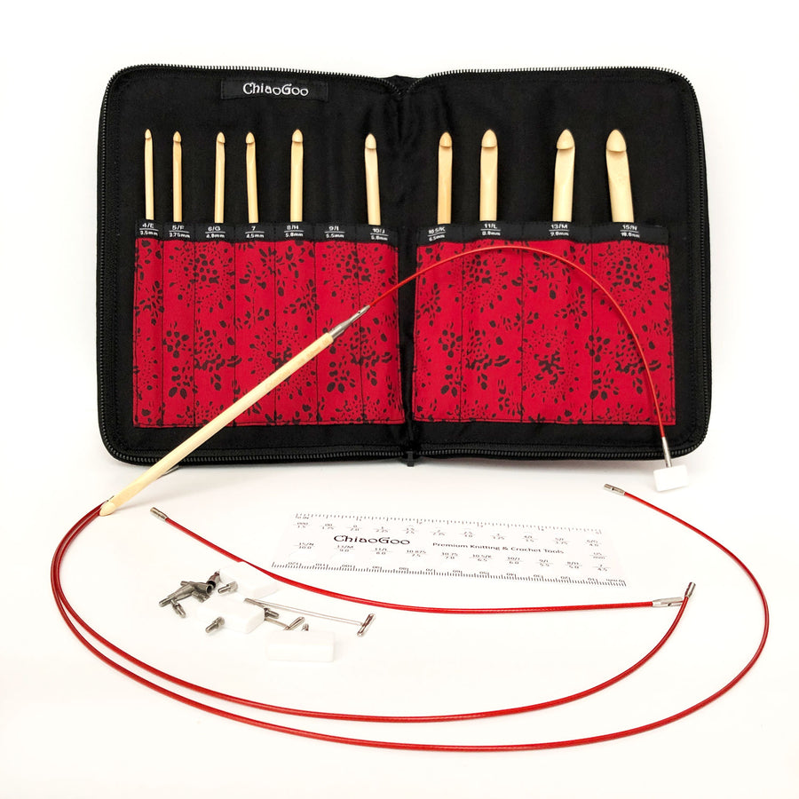 T-Spin Bamboo Interchangeable Tunisian Crochet Hook Set 1500-C - ChiaoGoo