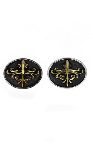 KB Scroll Shield Cufflinks