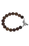 10mm Gold Druzy Agate Bracelet w/ T-Bar & Toggle