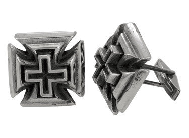 Cuff Links | Slash Cross Cuff Links