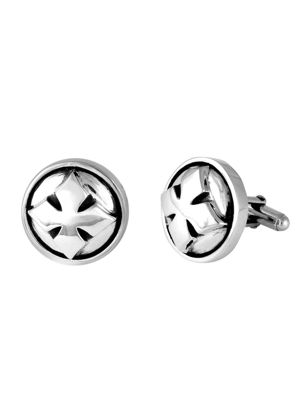 MB Cross Cufflinks-Silver