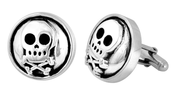 Skull & Bones Button Cufflinks