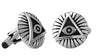 Cuff Links | All Seeing Eye Round Cufflinks