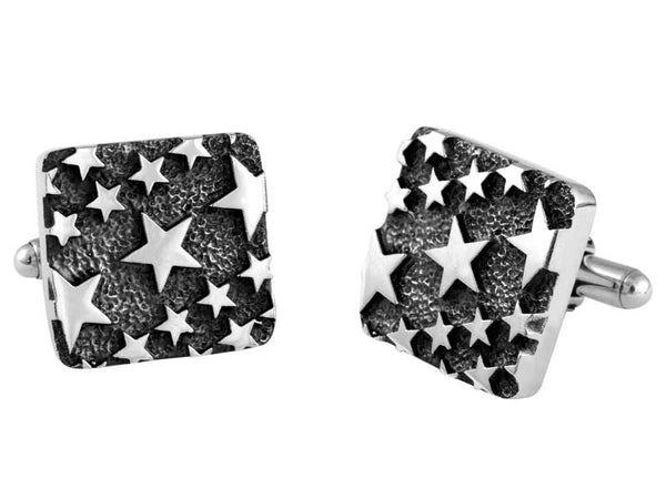 Carved Star Pattern Cufflinks