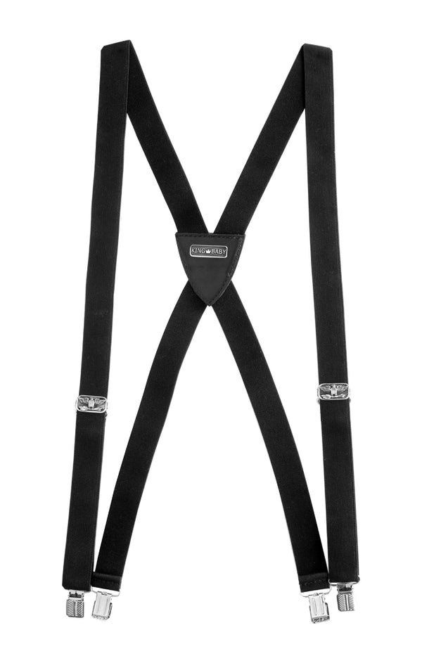 Suspenders with Silver Eagle Hardware and clip attachments