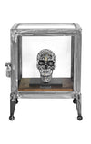 Silver Skull Sculpture (Two of Five)