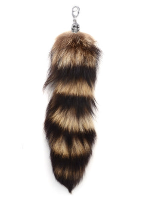 Raccoon Tail w/ DOTD Skull and Large Lobster Clasp