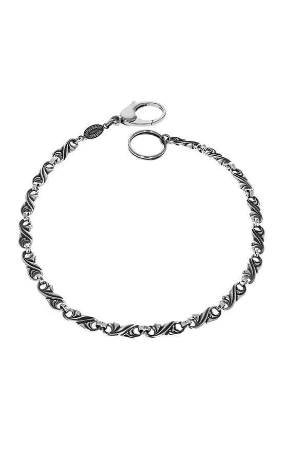 sterling silver king baby wallet chain