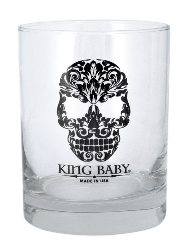 Baroque Skull Logo Old Fashioned Glass