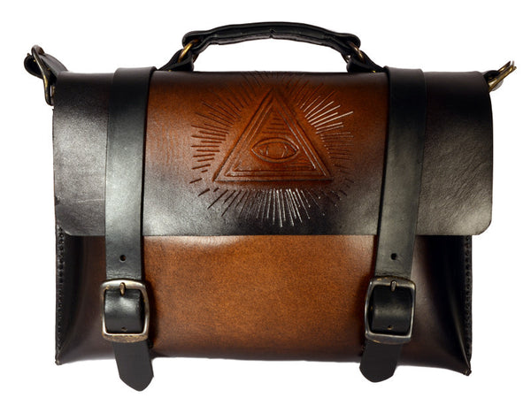 Accessories | Leather Satchel w/ All Seeing Eye Design