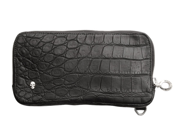 Large Matte Black Alligator