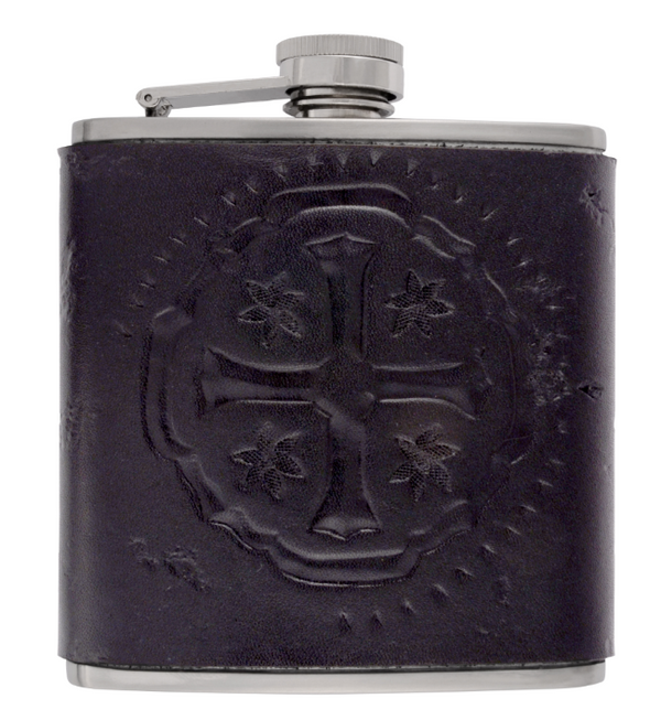 Stainless Steel 6oz Flask w/ Shipwreck Cross