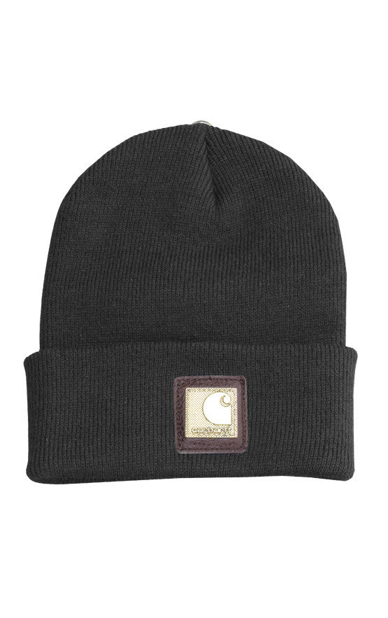 Carhartt X King Baby Black Hat with Brass Logo Plate