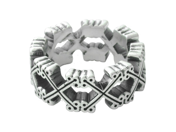Traditional Cross Infinity Ring