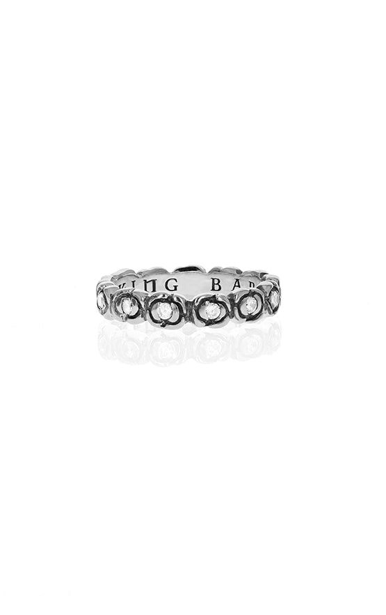 Baby Rose Infinity Ring with Pave CZ