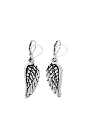 Wing Hook Wire Earrings w/ Flat Back