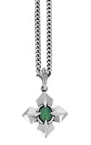 King Baby MB Cross Chrysoprase Pendant