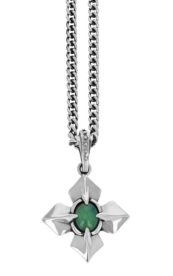 MB Cross Chrysoprase Pendant