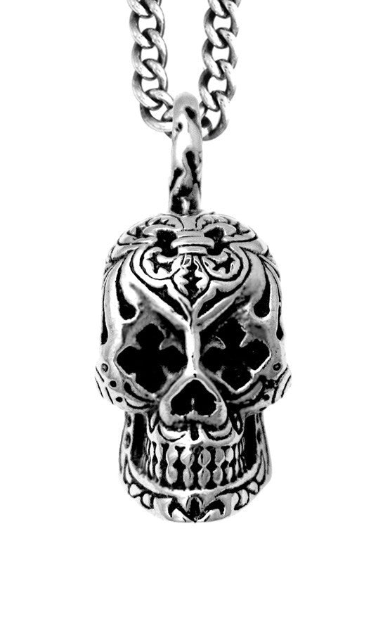 Day of the Dead Skull Pendant w/MB Cross Eyes