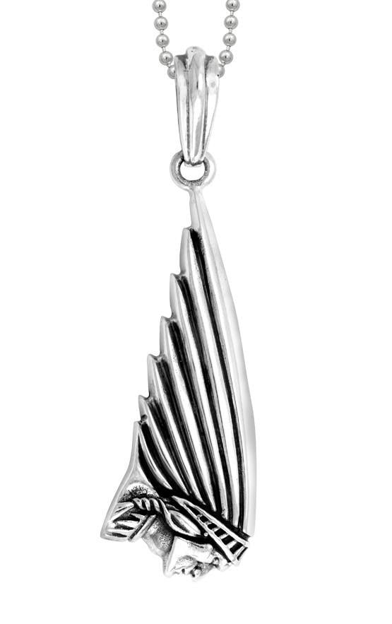 king baby silver indian motorcycle necklace