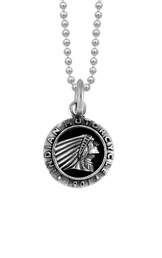king baby indian motorcycle round headdress pendant