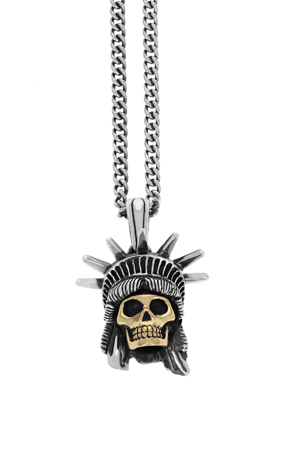king baby limited edition liberty skull pendant
