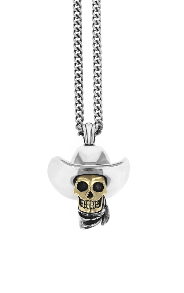 king baby limited edition cowboy skull pendant