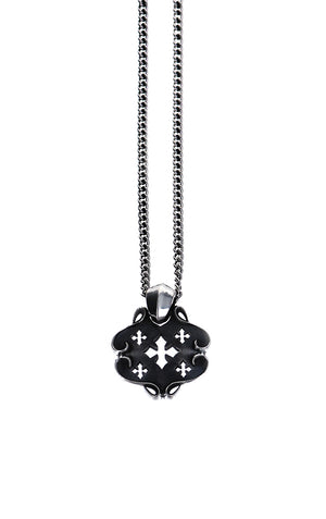 MB Cross Shield Pendant