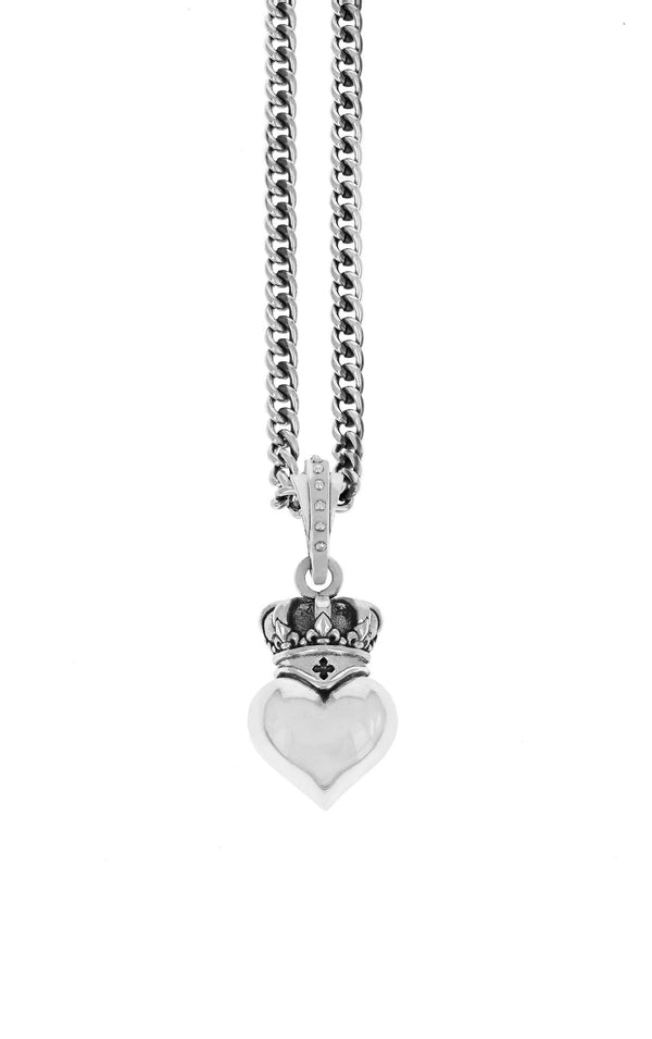 king baby new classics crowned heart pendant