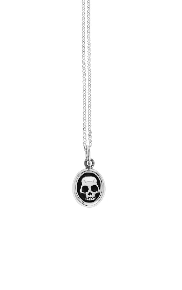 king baby small framed hamlet skull pendant