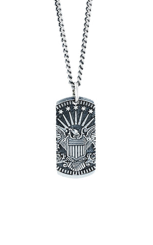 Eagle Dog Tag Pendant