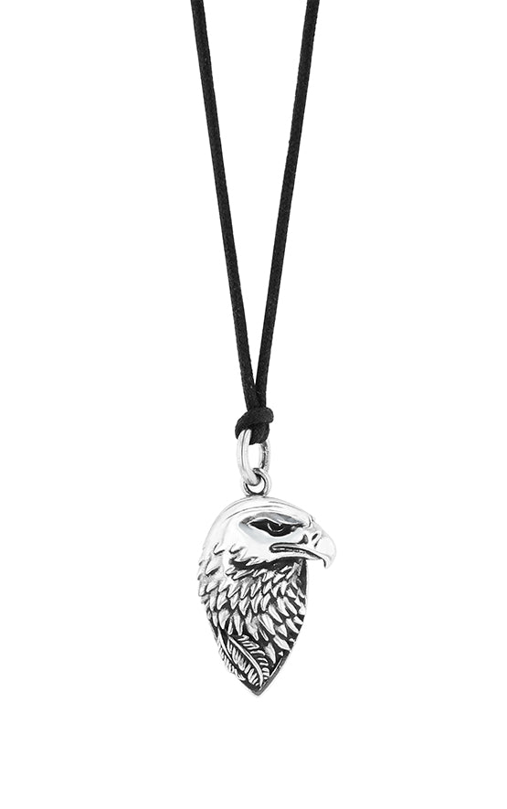Eagle Profile Pendant with Waxed Cord