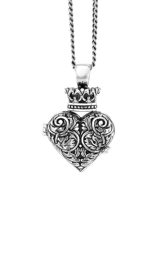 Engraved Baroque Heart Locket