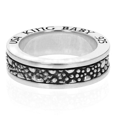 Stingray Textured Spinner Ring